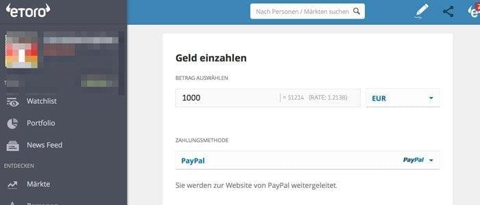 PayPal eToro