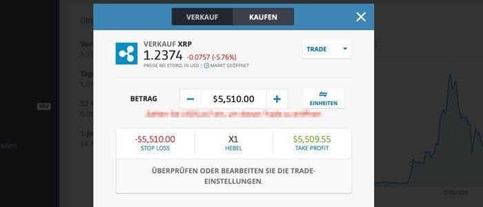 eToro Ripples Trade