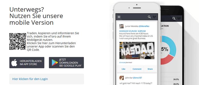 Mobile App eToro