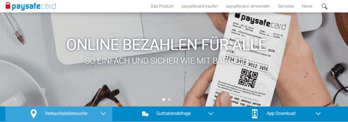 Paysafecard zum online Bezahlen