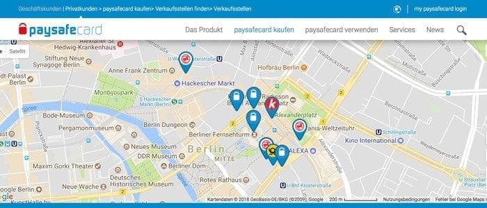 Paysafe Verkaufsstellen Berlin