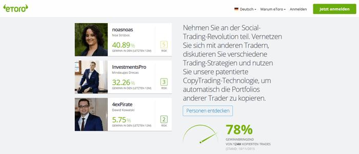 Social Trading Broker eToro