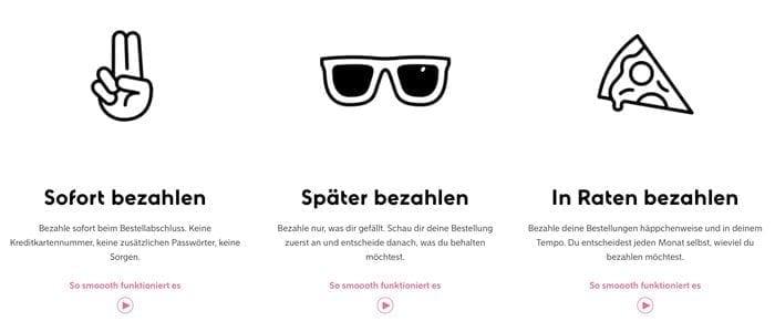 Sofortüberweisung Homepage Klarna