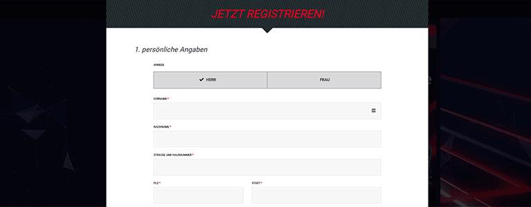 tipXpress Registrierung