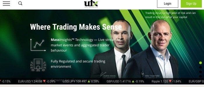ufx Broker Startseite
