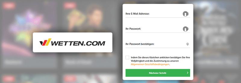 Wetten.com Casino Anmeldung