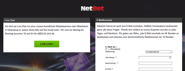 Netbet Casino Support