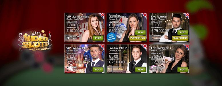 Videoslots Casino Livespiele