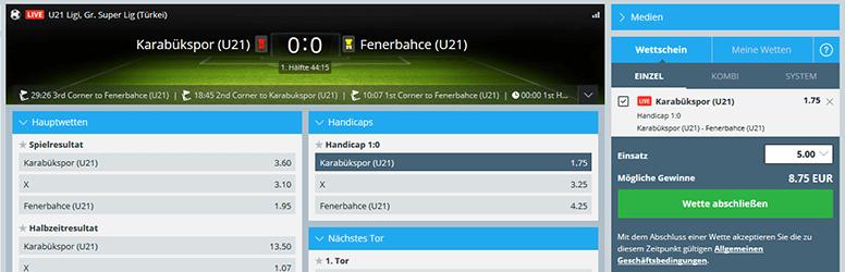 Sportingbet Sport Live