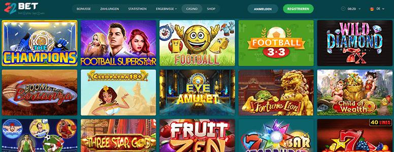 22BET Zusatzangebot Casino