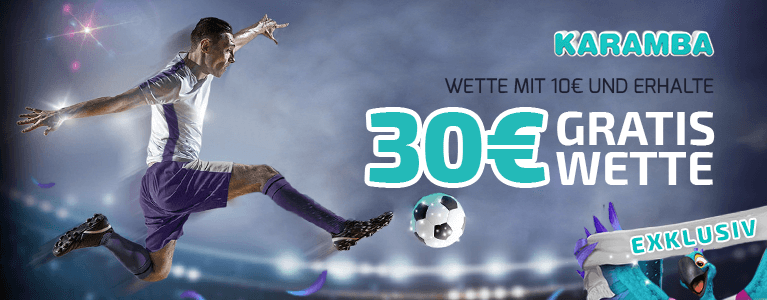 Karamba Sportwettenbonus - Exklusive Gratiswette