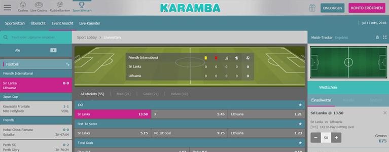 Karamba Sports Livewetten