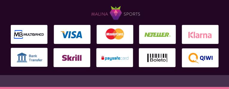 Malina Sports Zahlungsmethoden