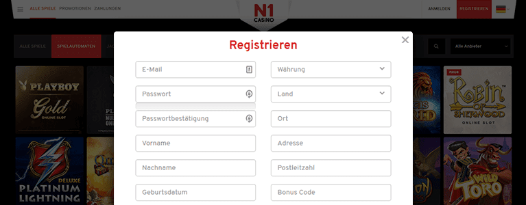 N1 Casino Registrieren