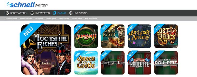 SchnellWetten.com Spiele