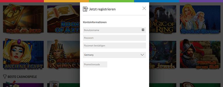 SlotsMillion Registrierung