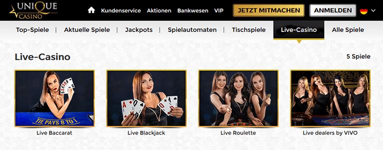 unique casino erfahrungen
