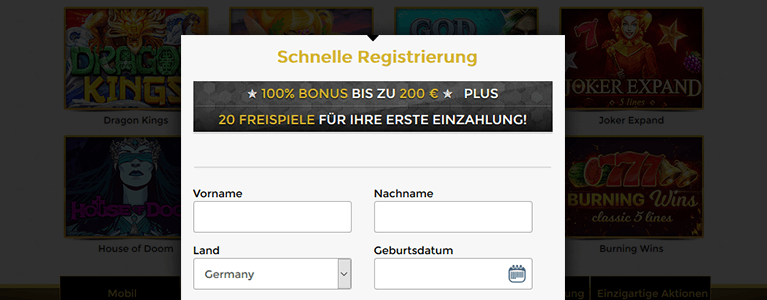 Unique Casino Registierung
