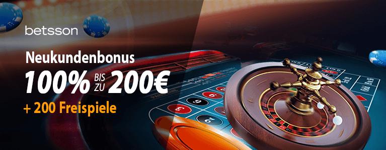 Betsson Casino bonus 2