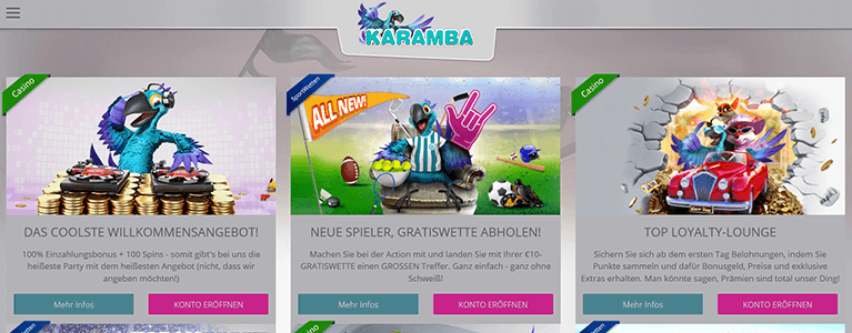 Karamba Casino Promotion