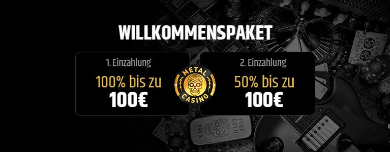 Metal Casino Willkommensbonus