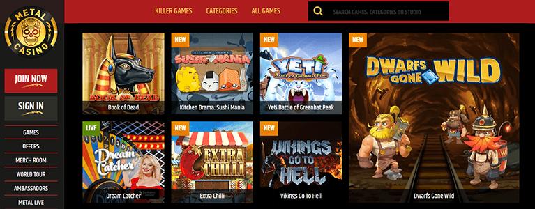 Metal Casino Spiele / Slots