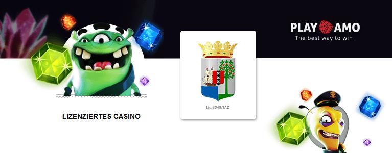 PlayAmo Casino Sicherheit & Lizenz