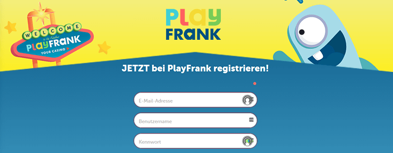 PlayFrank Casino Registrierung