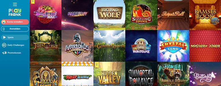 PlayFrank Casino Spiele