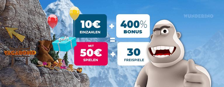 Wunderino Casino Bonus