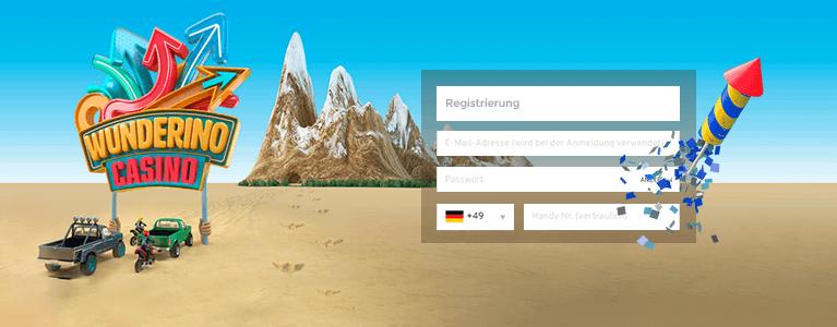 Wunderino Casino Registrierung