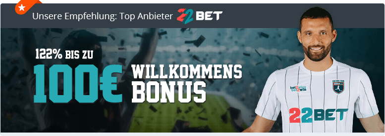 22Bet Top Wettanbieter Banner