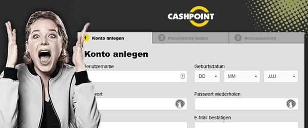 Cashpoint Casino Konto erstellen