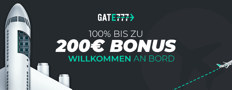 Gate777 Bonus für Neukunden bis zu 200 Euro