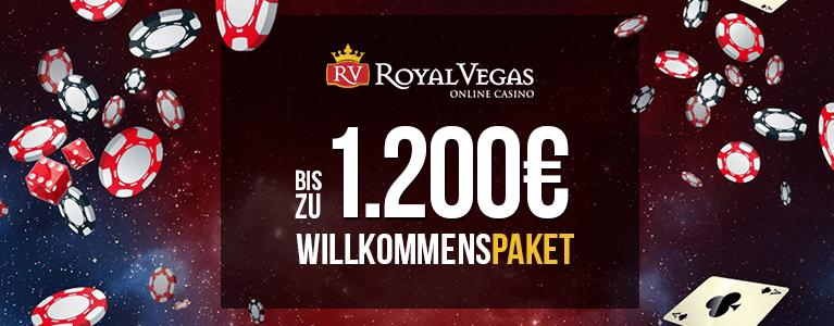 Royal Vegas Casino Willkommenspaket