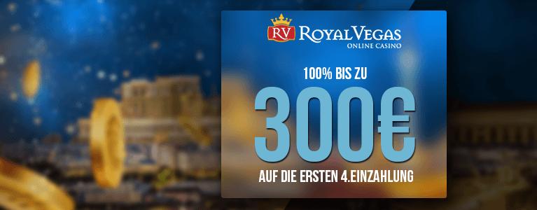 Royal Vegas Casino Bonus für Neukunden