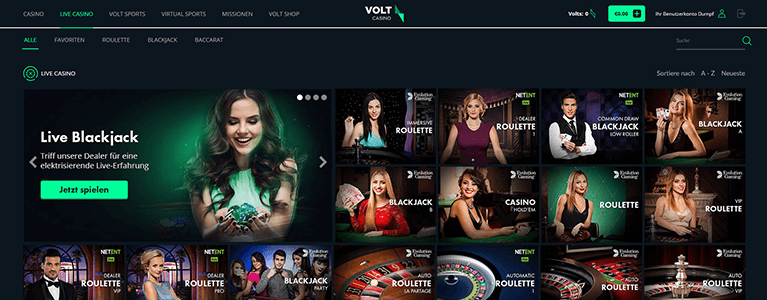 Volt Casino Live Casino