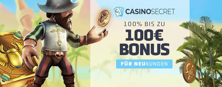 Casino Secret Bonus für Neukunden
