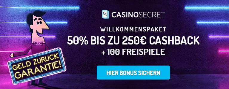Casino Secret Cashback Bonus für neue Kunden 2019