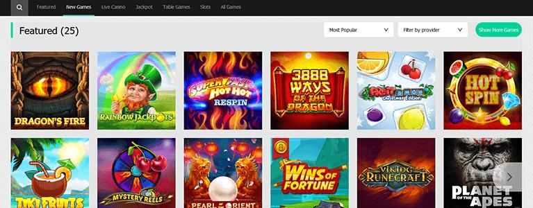 Moplay Casino Spiele