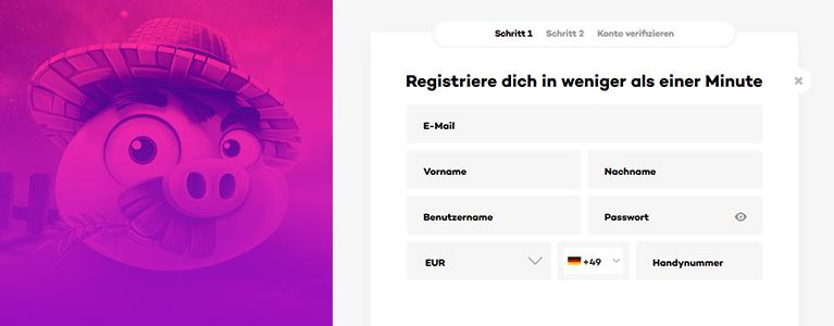 21.com Registrierung