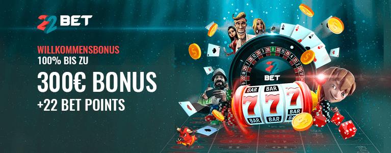 22Bet Casino Bonus für Neukunden