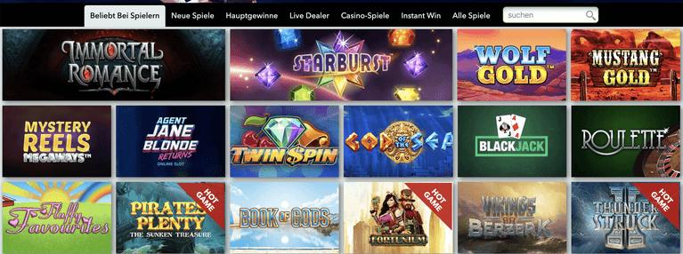 Handy Vegas Casino Spiele