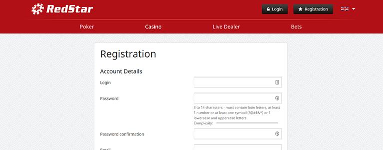 Red Star Casino Registrierung