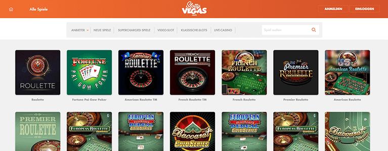 Slotty Vegas Casino Live Casino