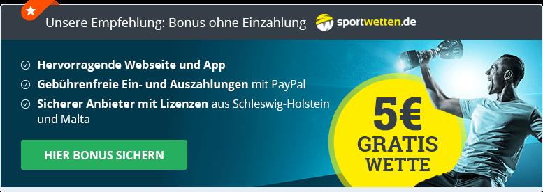 No Deposit Empfehlung Sportwetten