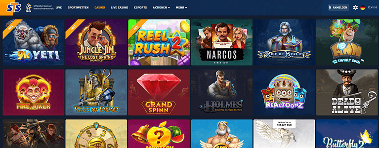 STS Casino Spiele