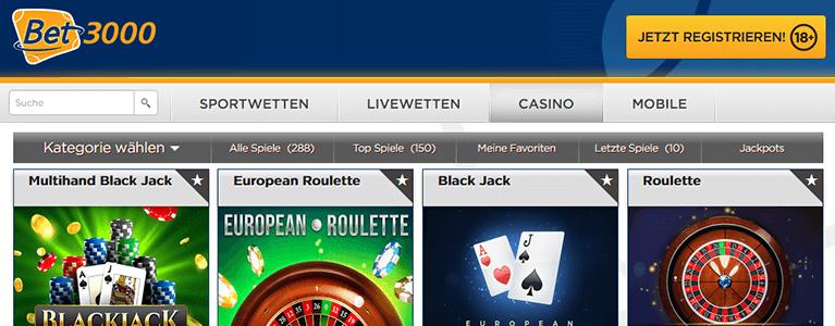 Bet3000 Live Casino
