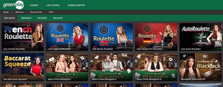 Greenplay Casino live casino