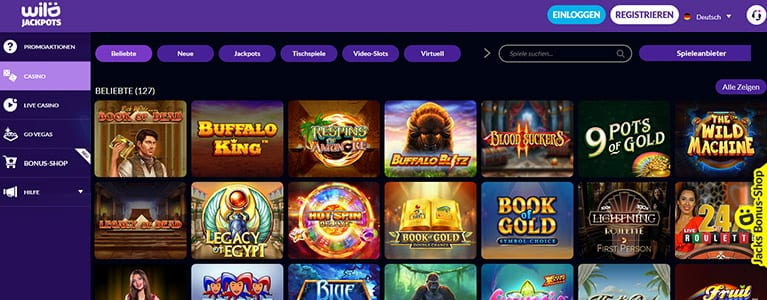 Wild jackpots Casino Spiele